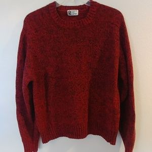 VINTAGE 80S WINDSOR SHIRT COMPANY RED SWEATER M L